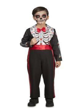 disfraz de dia de los muertos negro para niño