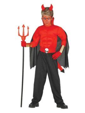 disfraz de diablo musculoso para niño