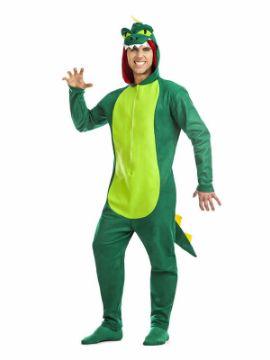 disfraz de dinosaurio verde hombre