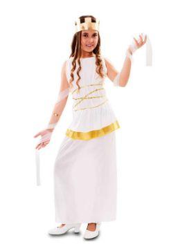disfraz de diosa atenea griega niña