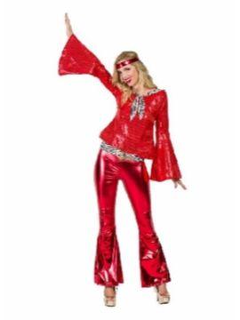 disfraz de disco rojo deluxe mujer