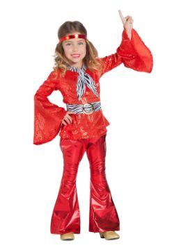disfraz de disco rojo niña