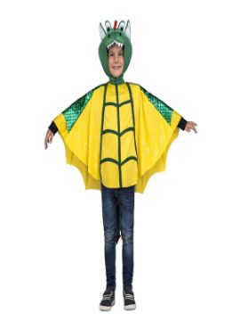 disfraz de dragon verde y amarillo para niño