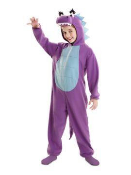 disfraz de dragona morada para niña