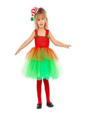 disfraz de elfa con tutu para niña