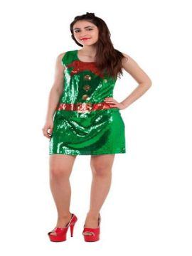 disfraz de elfa lentejuelas para mujer
