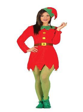 disfraz de elfa roja mujer