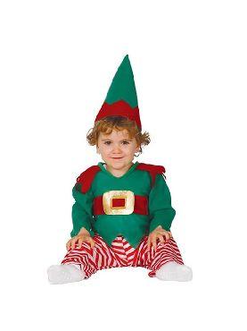 disfraz de elfo baby rayas para bebe