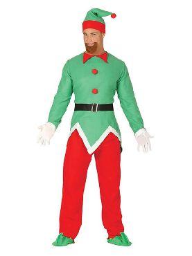 disfraz de elfo verde y rojo hombre