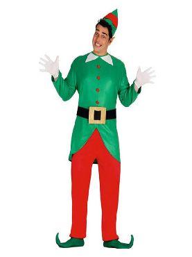 disfraz de elfo verde y rojo para hombre