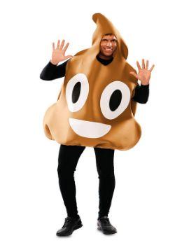disfraz de emoticono caca divertido adulto