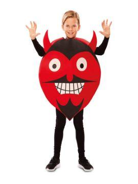 disfraz de emoticono diablo para niño