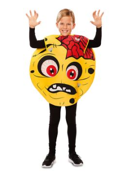 disfraz de emoticono zombie para niño