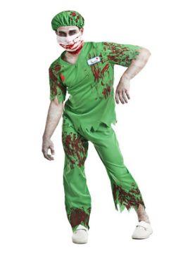 disfraz de enfermero zombie para hombre
