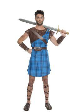 disfraz de escoces azul hombre