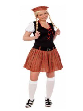 disfraz de escocesa barato para mujer