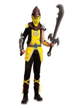 disfraz de escorpion mortal kombat para niño