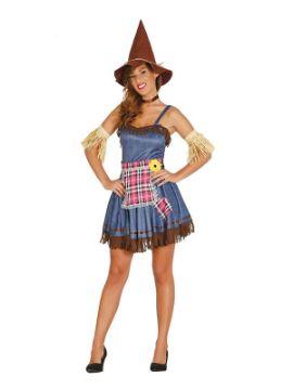 disfraz de espantapajaros sexy mujer