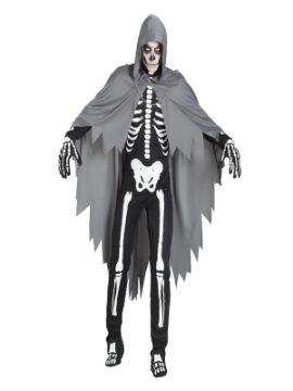 disfraz de esqueleto con capa hombre