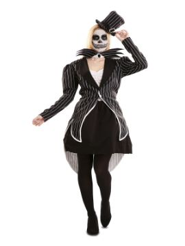 disfraz de esqueleto elegante para mujer