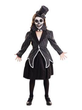 disfraz de esqueleto elegante para niña