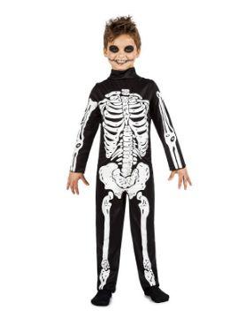 disfraz de esqueleto para niño