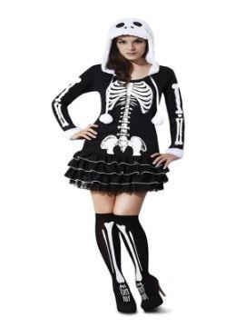 disfraz de esqueleto sassy para mujer