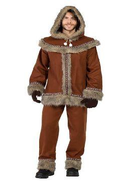 disfraz de esquimal marron para hombre