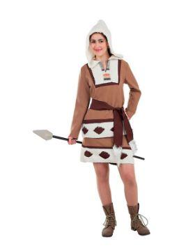 disfraz de esquimal marron para mujer