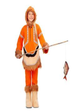 disfraz de esquimal naranja para niña