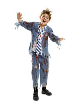 disfraz de estudiante zombie para niño