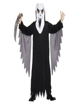 disfraz de fantasma negro para niño