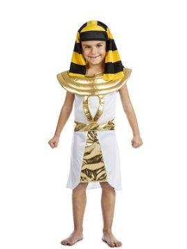 disfraz de faraon egipcio para niño