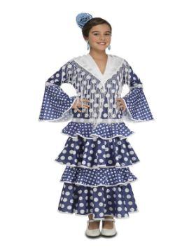 disfraz de flamenca alvero azul niña