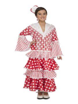 disfraz de flamenca rocio rojo niña