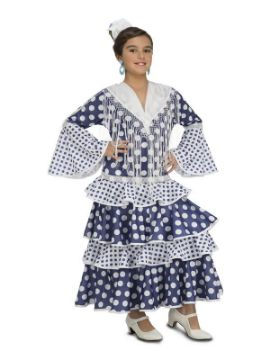 disfraz de flamenca solea azul niña