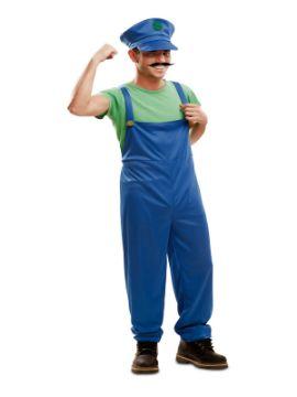 disfraz de fontanero luigi para hombre