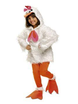 disfraz de gallina blanca para niña