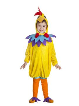 disfraz de gallo amarillo niño