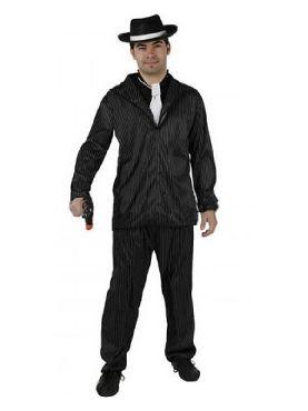 disfraz de gangster negro para hombre adulto