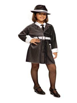 disfraz de ganster para niña