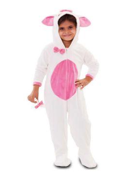 disfraz de gatita rosa y blanco niña