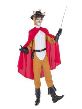 disfraz de gato con botas para hombre