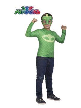 disfraz de gekko de pj masks para niño
