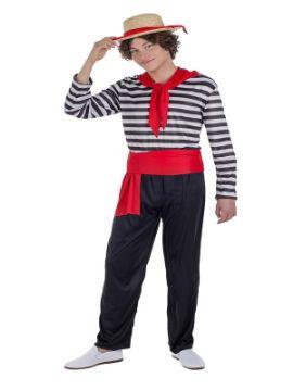 disfraz de gondolero veneciano hombre