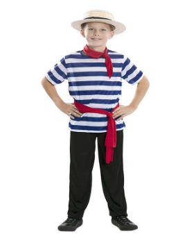 disfraz de gondolero veneciano para niño