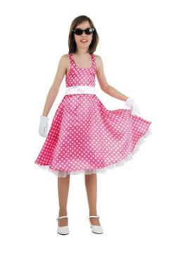 disfraz de grease rosa para niña