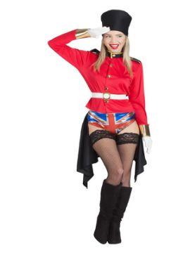 disfraz de guardia inglesa sexy para mujer