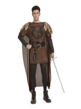 disfraz de guerrero medieval del norte hombre