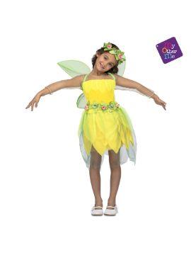 disfraz de hada del bosque amarilla niña